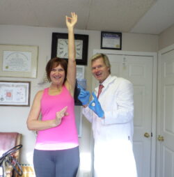 Dr. Allan Gary with customer